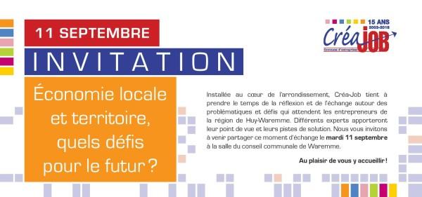 Conférence Créajob - Economie locale et territoire - Quels défis pour le futur 2